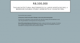 R8,500,000 | Architectural masterpiece. Large North facing 4 bedroom, double storey home with a country feel
