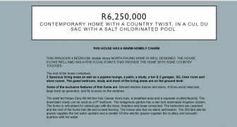 R6,250,000 | Contemporary home with a country twist, in a cul du sac