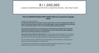 R11,000,000 | Large farmhouse with a heated pool on Pasture